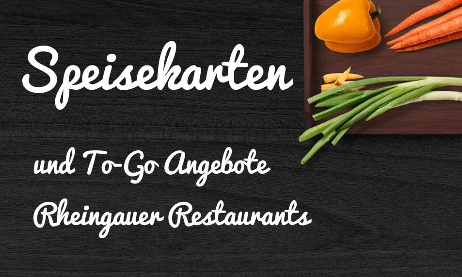 Speisekarten Rheingauer Restaurants