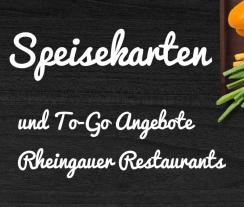 Speisekarten und ToGo Angebote Rheingau